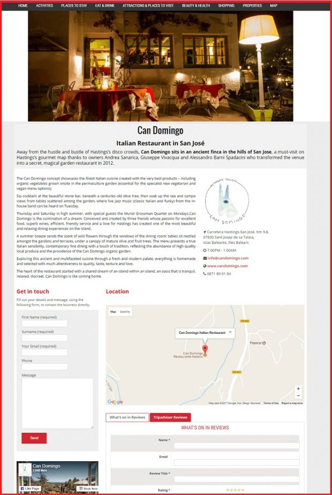 Sales Page Example when Advertise with us What's on in Lincoln.com